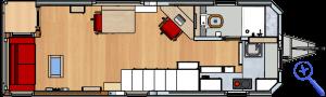 Rolling Tiny House Erdgeschoss