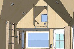 Rolling Tiny House Loftschrank