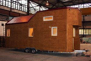 Rolling Tiny House in der Produktion