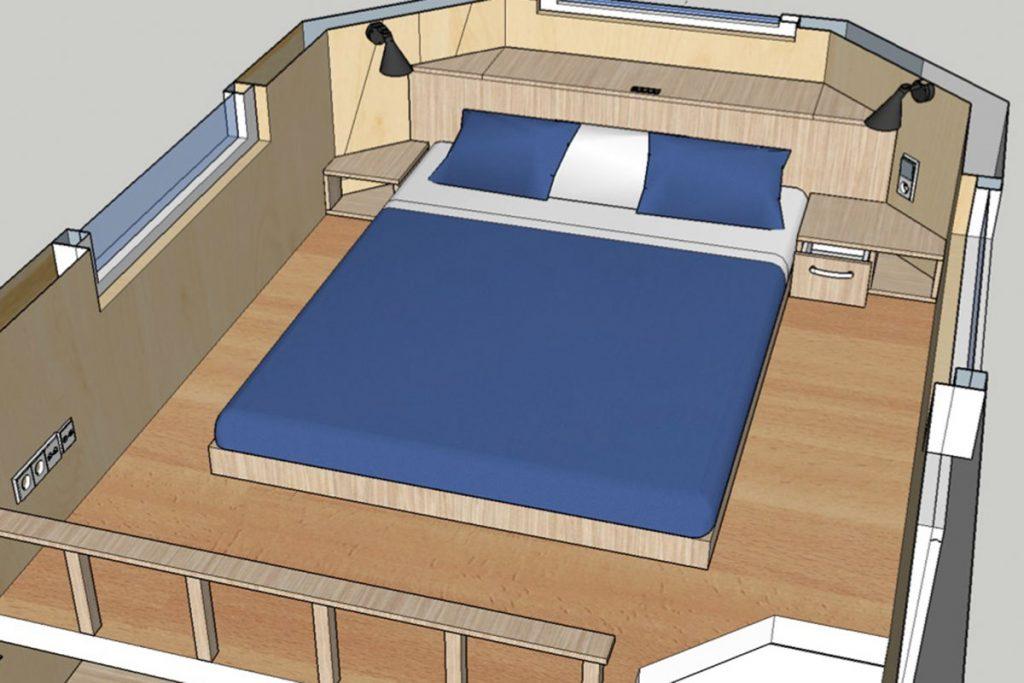 sonderausstattung breiteres bett im schlafloft. Black Bedroom Furniture Sets. Home Design Ideas