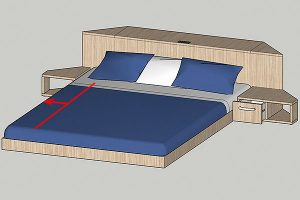Rolling Tiny House breiteres Bett