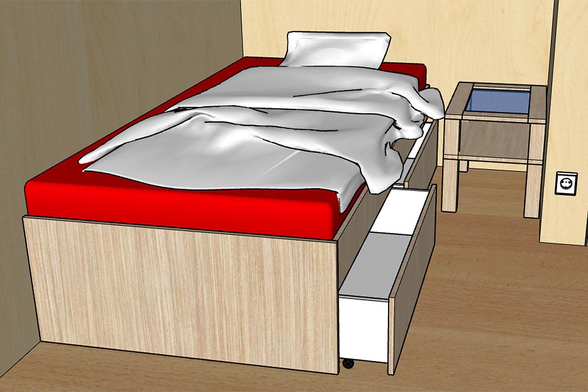sonderausstattung zusatzbett im erdgeschoss. Black Bedroom Furniture Sets. Home Design Ideas