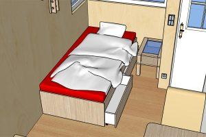 Rolling Tiny House - Zusatzbett im Erdgeschoss