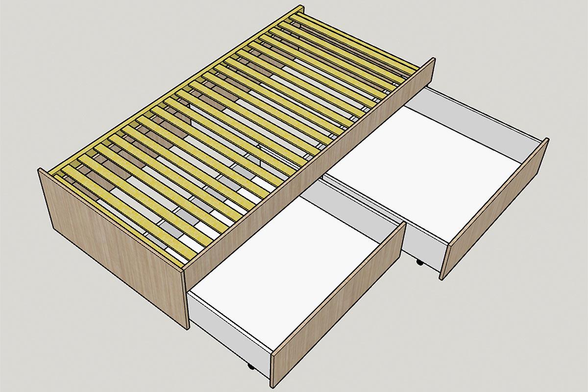 rolling tiny house zusatzbett im erdgeschoss. Black Bedroom Furniture Sets. Home Design Ideas