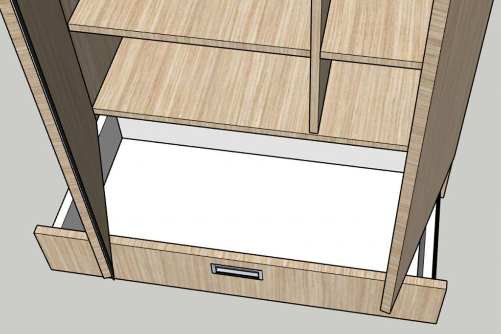 Rolling Tiny House Wandschrank