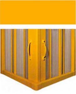 RTH Duschabtrennung gelb
