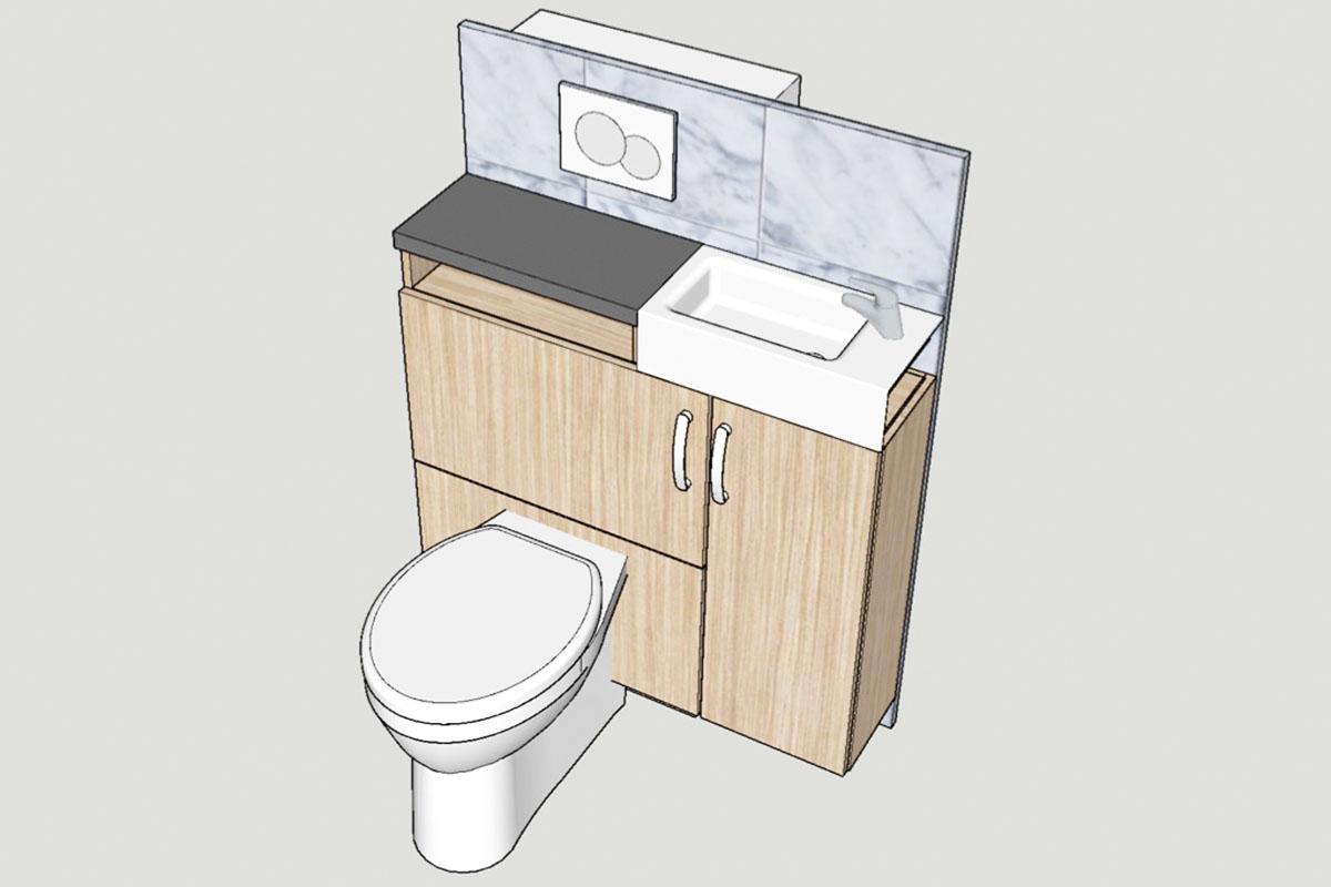 Rolling Tiny House Badezimmer Innovation -