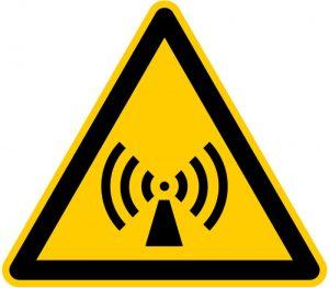 Elektro Smog Warnschild